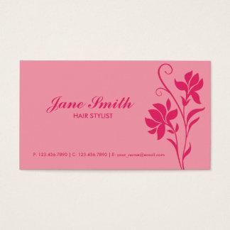 Rosa elegante moderne Blume mit Blumen Visitenkarten