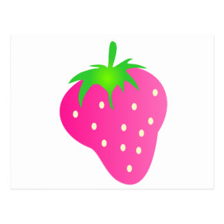 Rosa Erdbeere hell und nett Postkarte