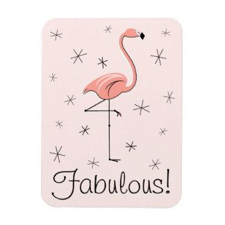 Rosa fabelhafter Magnet des Flamingos flexibel