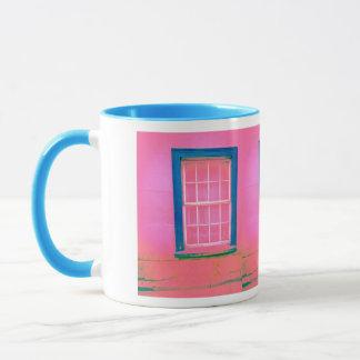 Rosa Fenster-Tasse Tasse