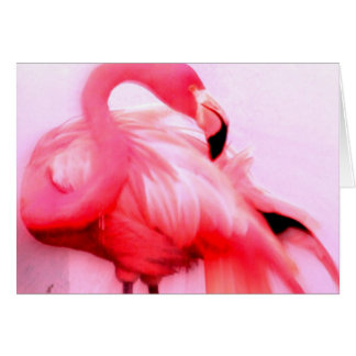 Rosa Flamingo Mitteilungskarte