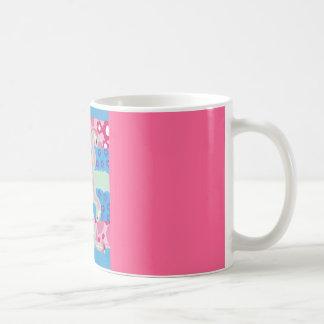 Rosa Flamingo-Trio - leben Sie gut Tasse