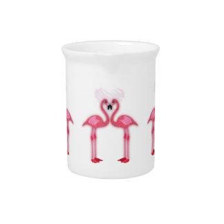 rosa Flamingos - i-Liebe Sie - für das Zuhause Getränke Pitcher