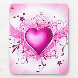Rosa Flügel Mousepads