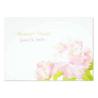 Rosa Frühlings-Romance Pfingstrosen-Hochzeit 12,7 X 17,8 Cm Einladungskarte