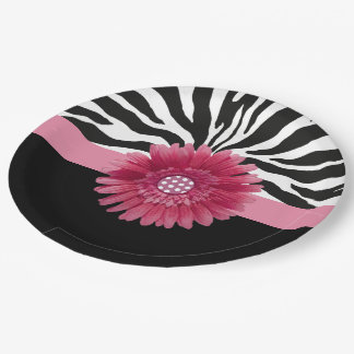 Rosa Gänseblümchen 1 Pappteller