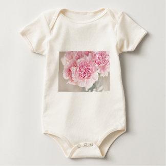Rosa Gartennelken-Blume Baby Strampler