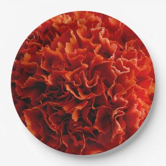 Rosa Gartennelken-Teller Pappteller