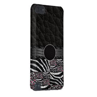 Rosa GepardZebra Bling Monogramm iPod Touch 5G Hülle