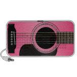 Rosa Gitarren-Gekritzel-Lautsprecher