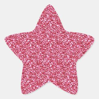 Rosa Glitter-Aufkleber Stern-Aufkleber