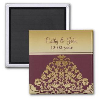 rosa GoldSave the Date Magnet Kühlschrankmagnet