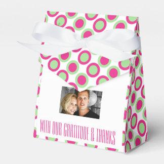 Rosa grüne Hochzeit punktiert Foto 4 Geschenkschachtel