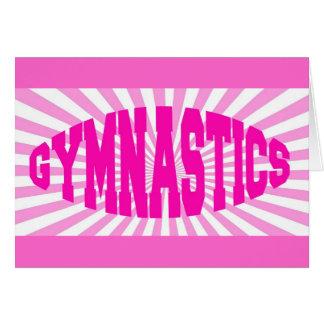 Rosa Gymnastik Karte