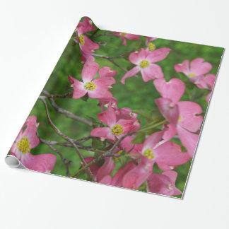Rosa Hartriegel-Geschenk-Packpapier Geschenkpapier