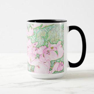Rosa Hartriegel-Tasse Tasse