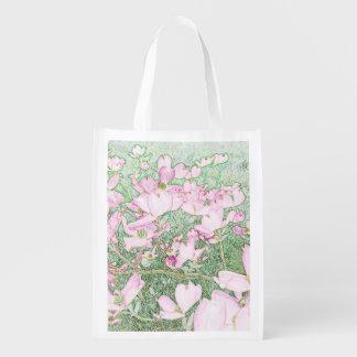 Rosa Hartriegel-wiederverwendbare Tasche Wiederverwendbare Einkaufstasche
