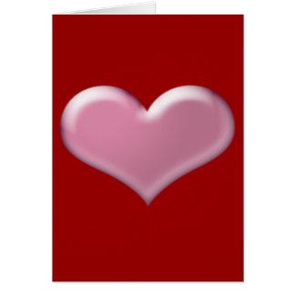rosa Herz 3D Karte