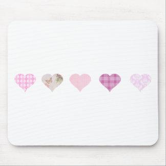 Rosa Herz-Entwurf Mousepads