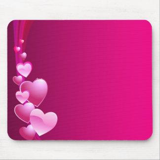 rosa Herz Mauspad