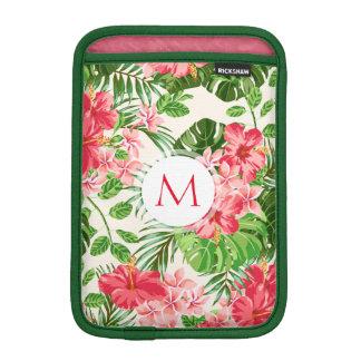 Rosa Hibiskus-Blumen-tropische Sleeve Für iPad Mini