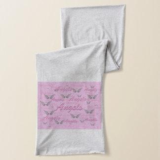 Rosa Hintergrund mit Engels-Flügeln Schal