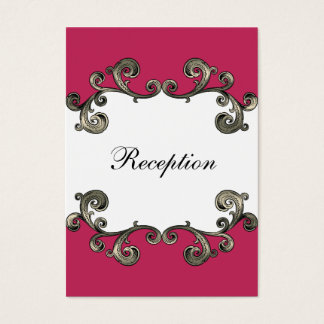 rosa Hochzeit Empfangs-Karten Visitenkarte