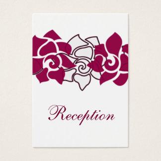 rosa Hochzeit Empfangs-mit Blumenkarten Visitenkarte