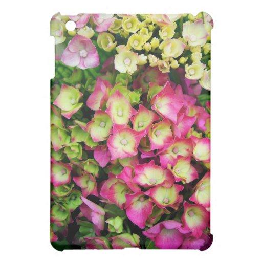 Rosa Hortensia Hüllen Für iPad Mini