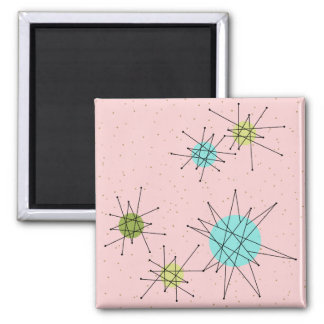 Rosa Iconic AtomSternexplosion-Magnet Quadratischer Magnet