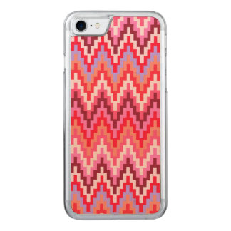 Rosa Ikat Zickzack geometrisches Carved iPhone 8/7 Hülle