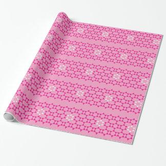 Rosa jüdische Sterne Geschenkpapier