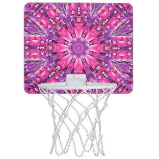 Rosa Kaleidoskop-Basketball-Band n lila Vintages Mini Basketball Ring