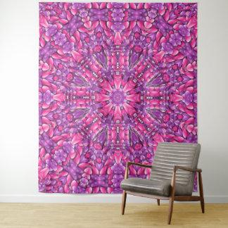 Rosa Kaleidoskop-Wand-Tapisserie n lila Vintage Wandteppich