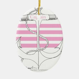 rosa Kapitän, tony fernandes Ovales Keramik Ornament