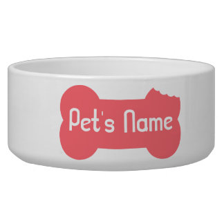 Rosa kaute Knochen-personalisierte Hundeschüssel 5 Napf