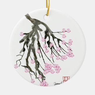 Rosa Kirschblüte 24, Tony Fernandes Keramik Ornament