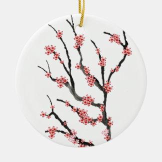 Rosa Kirschblüte 25, Tony Fernandes Keramik Ornament