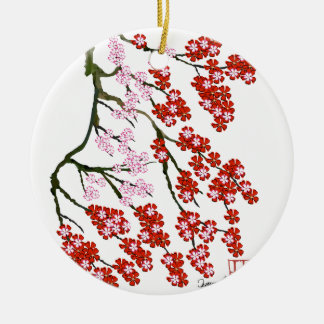 Rosa Kirschblüte 26, Tony Fernandes Rundes Keramik Ornament