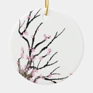 Rosa Kirschblüte 27, Tony Fernandes Rundes Keramik Ornament