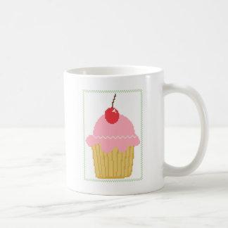 rosa Kirschkleiner kuchen Kaffeetasse
