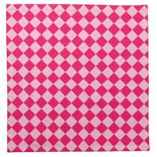 Rosa Kombinations-Diamant-Muster durch Shirley Stoffserviette