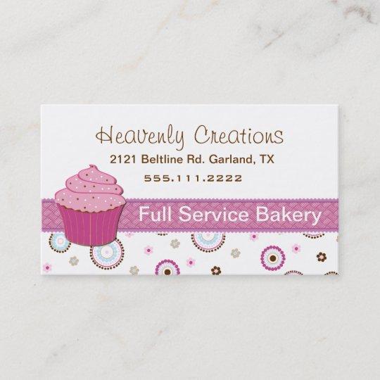 Rosa Kuchen Bäckerei Kuchen Visitenkarte Rosa Kuchen Bäckerei Kuchen  Visitenkarte