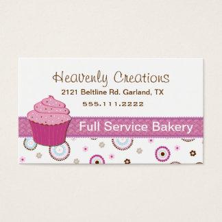 Rosa Kuchen-Bäckerei-Kuchen-Visitenkarte Visitenkarte