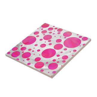 Rosa Leidenschafts-Tupfen-Muster Kleine Quadratische Fliese