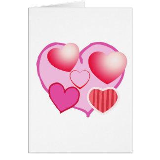 Rosa Liebe-Ausdruck - Herzen Karte