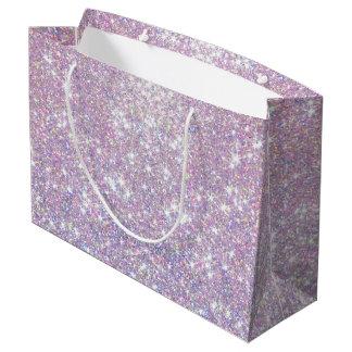 Rosa lila GlitterConfetti hat große Große Geschenktüte