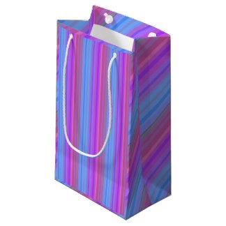 Rosa lila und blaue gestreifte Geschenk-Tasche Kleine Geschenktüte