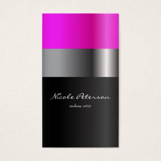 Rosa Lippenstiftmake-up Visitenkarten