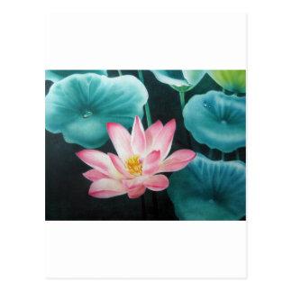rosa Lotos 2 Postkarte